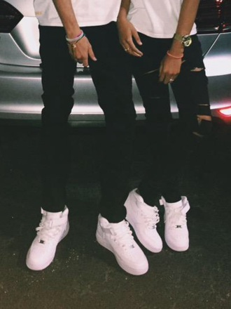 shoes white white sneakers all white sneakers nike nike air force 1