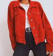 jacket,red