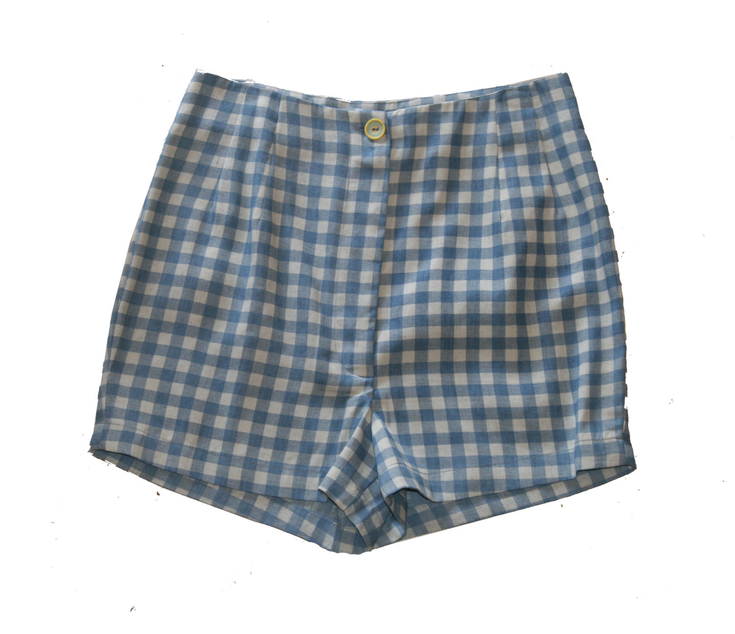 HIGH WAISTED women Shorts, Plaid Shorts ,Blue and white Check ...