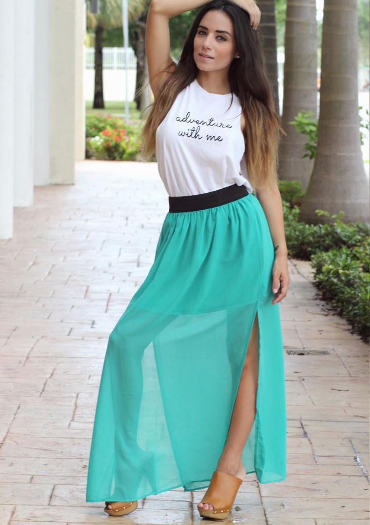 Sheer Maxi Skirt - Furor Moda - Tops - Dresses - Jackets - Vintage