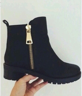 shoes black boots ankleboots autum winter outfits style fashion girly