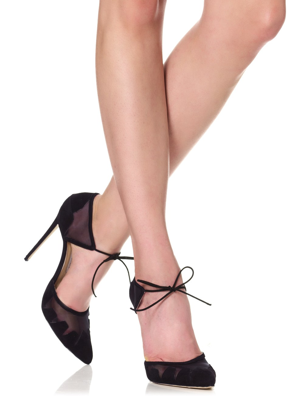 Black Ankle-Tie Lana Pumps | Bionda Castana | Avenue32