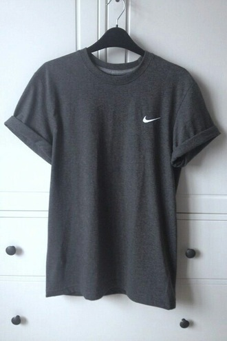 shirt nike t-shirt grey gray shirt comfy cute