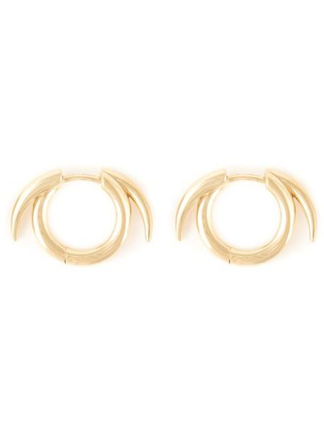 SHAUN LEANE women earrings hoop earrings silver grey metallic jewels
