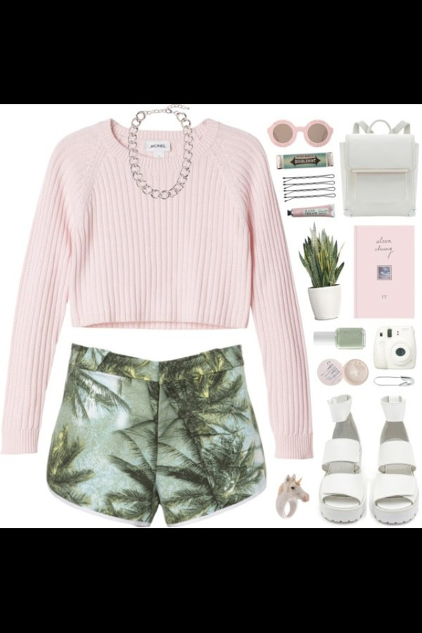 sweater pink shorts shoes sunglasses hipster classy and fabulous style clothes clothes