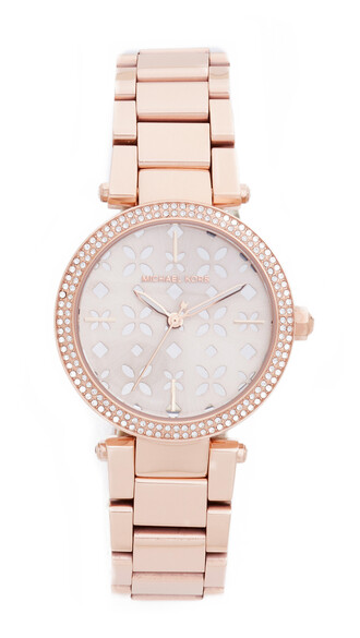 mini rose gold rose watch gold floral silver jewels