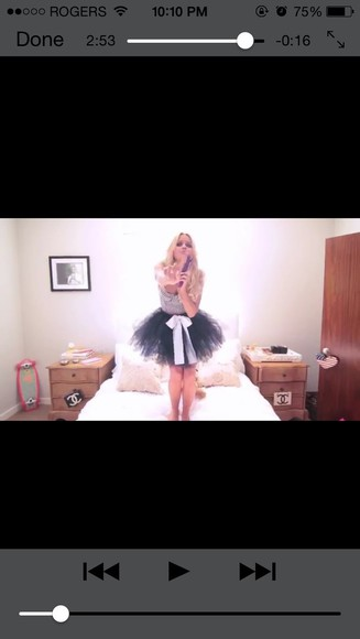skirt tutu tutu skirt white pretty black alli alli simpson cropped cropped top stripped black and white blonde makeup sassy
