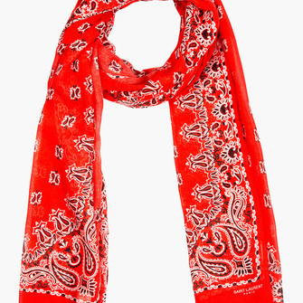 red scarf paisley women silk cashmere scarf red