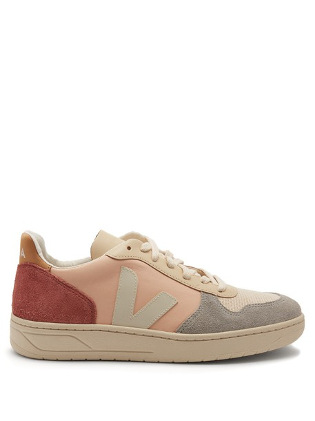 Veja top leather nude