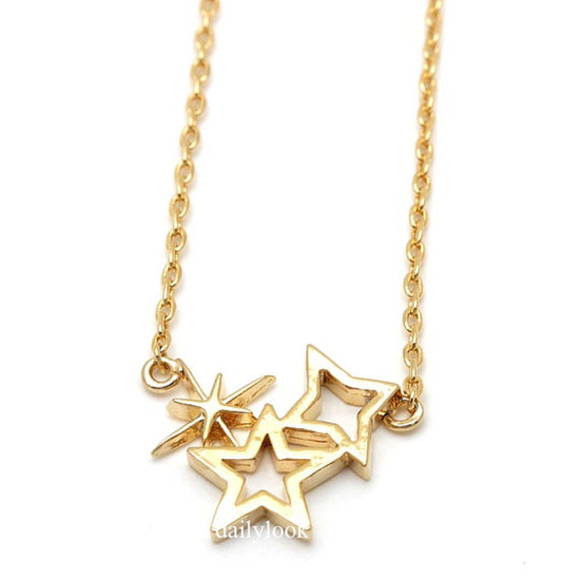 jewels gold necklace necklace shining star necklace star necklace star jewelry girl necklace star cute necklace bridesmaid gift