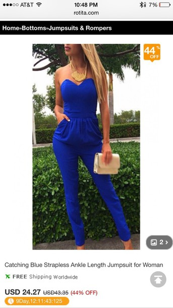 jumpsuit blue jumpsuit