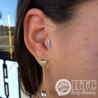 jewels tragus piercing jewelery tragus dimonds jewelry pearl earrings
