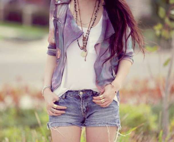 jacket purple shorts fashion beautiful