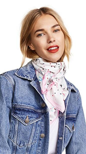 Kate Spade New York scarf silk cream