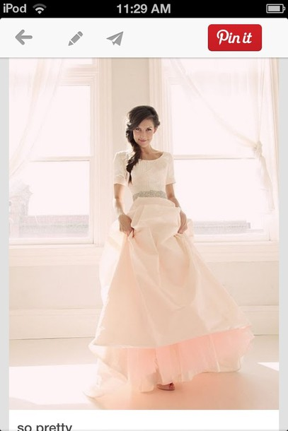 dress pink colored wedding dress