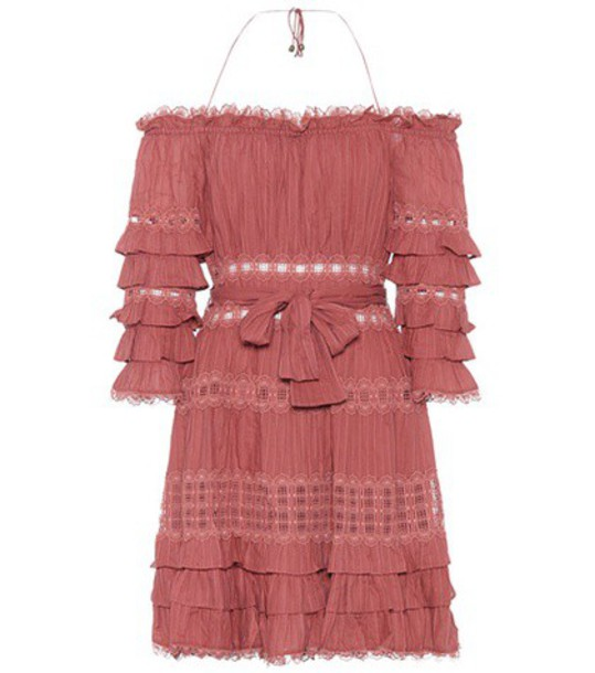 Zimmermann cotton red dress