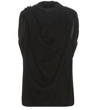 top silk wool black