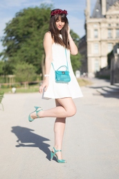 meet me in paree,blogger,dress,bag,shoes,jewels