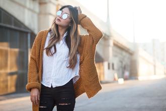 atsuna matsui atsuna matsui » blogger sweater cardigan shirt jeans shoes