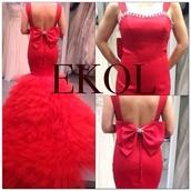 dress,red evening dresses