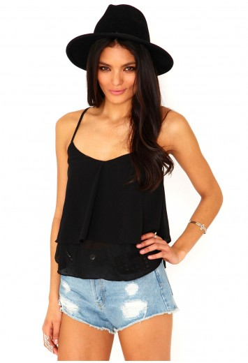 Janie ruffled vest top