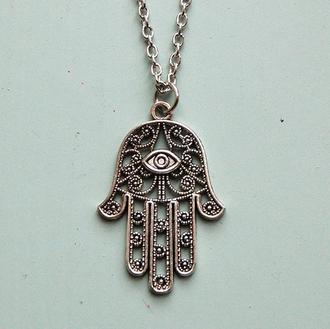 jewels hand eye necklace jewelry tumblr fashion fatima bracelets