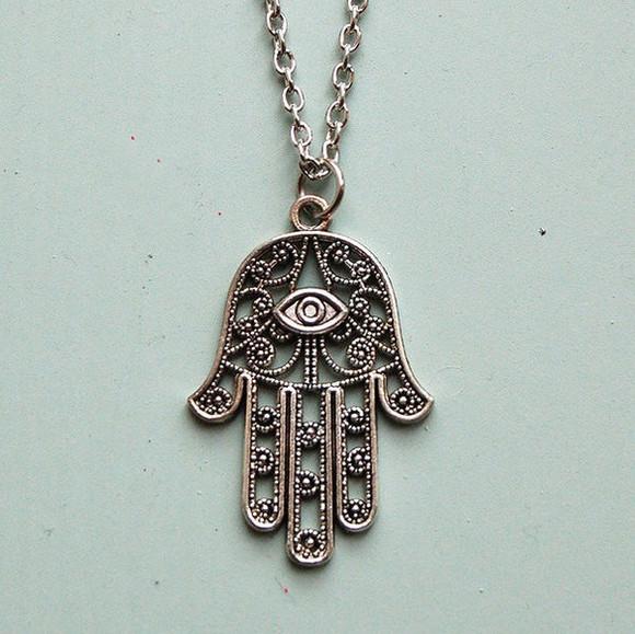 jewels hand bracelets fatima fashion eye necklace tumblr