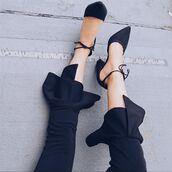shoes,amazing lace,black heels,tie heels,closed toe heels,pointed toe heels,dressy black heels,cute black heels,trendy black heels