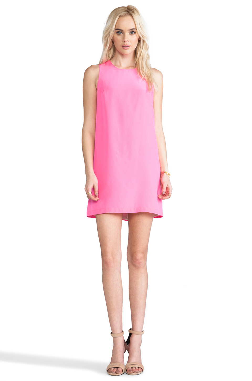Amanda Uprichard Sheath Tank Dress in Hibiscus | REVOLVE