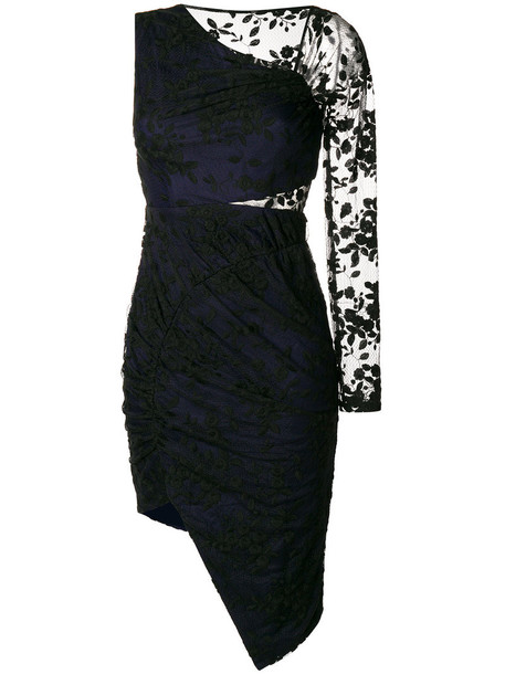 Three Floor dress women cotton black