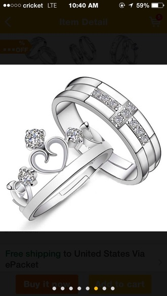 jewels rings princess crown