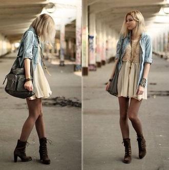 dress cool girl style white dress