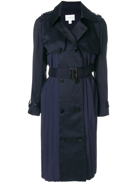 Jovonna - belted trench coat - women - Polyester - 8, Blue, Polyester