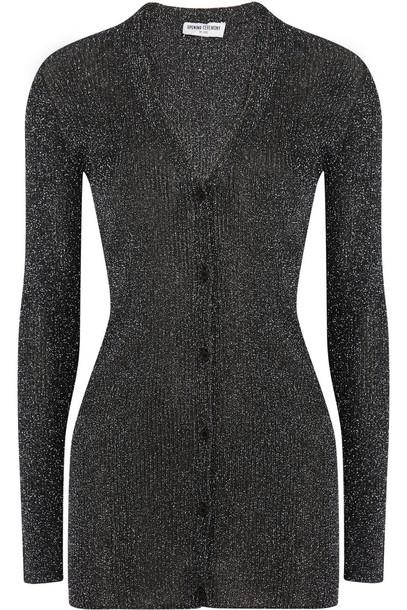 cardigan cardigan knit metallic silver sweater