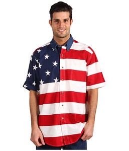 Roper Short Sleeved American Flag Shirt