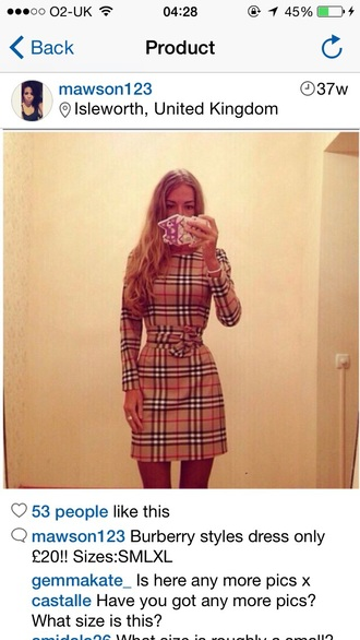 dress burberry tartan dress