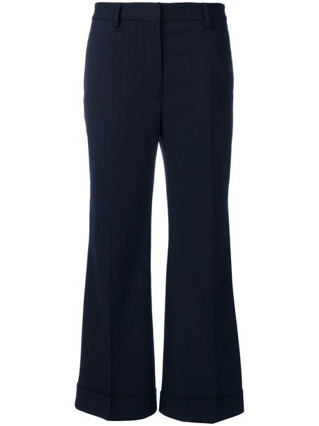 women cotton blue wool pants