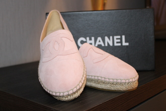 shoes heels espadrilles chanel pink light pink fashion instagood perfect espadrilles chanel