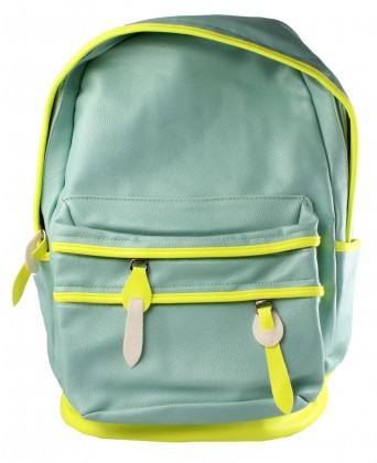 Wholesale Mint Faux Leather Backpack wih Neon Trim and more NEW ARRIVALS at Accent Fashion Accessories