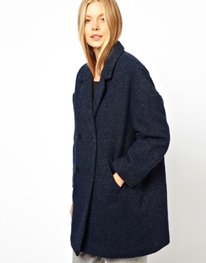 Monki | Monki Textured Coat at ASOS