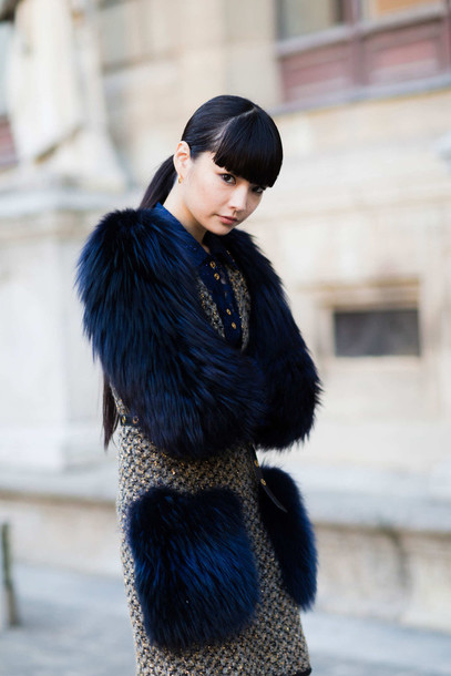 dress fashion week street style fashion week 2016 fashion week paris fashion week 2016 furry dress fur fall dress fall outfits streetstyle hairstyles winter outfits winter look