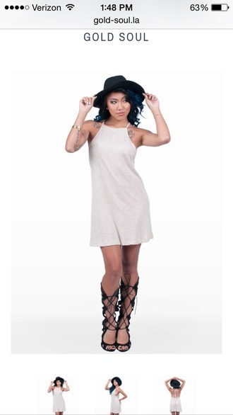 dress beige dress mididress