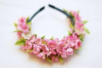 hat flower crown petals spring girly hairtie