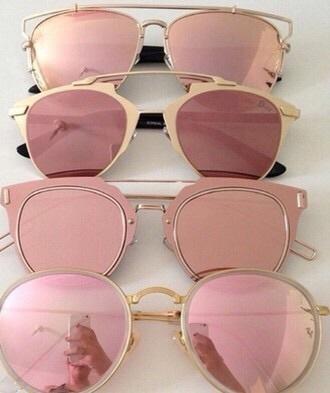 sunglasses gol rose rose gold pink classy