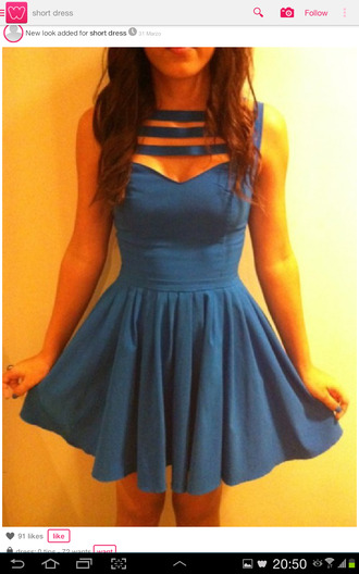 dress dress blue sky blue necklace bling pretty fitted ruffled new dress cute gorgeous brand dress blue cute want need help me