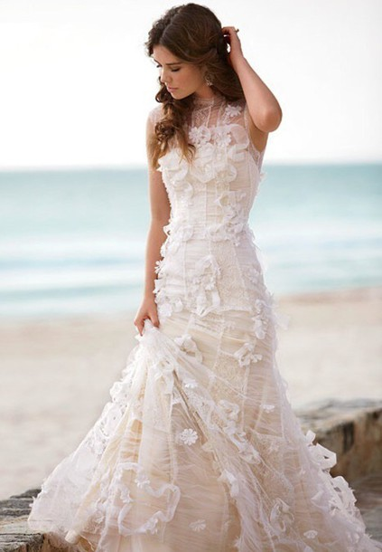 dress lace wedding dress wedding dress floral dress