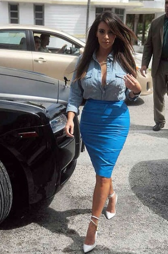 skirt pencil skirt tight knee high kim kardashian keeping up with the kardashians