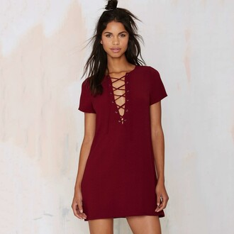 dress girl girly girly wishlist red red dress lace up short dress