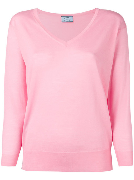 Prada jumper women wool purple pink sweater