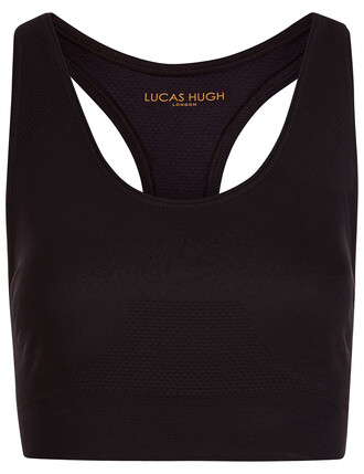 bra sports bra knit black underwear
